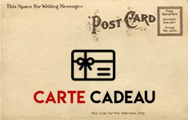 Carte cadeau boutique cartes postales