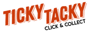 logo de la boutique ticky tacky à bruxelles